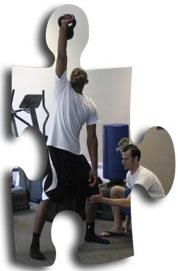 Jerry Stackhouse using proper form at OTransformation.com studio in Raleigh, NC